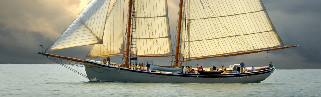 cruising on the Maine Windjammer American Eagle